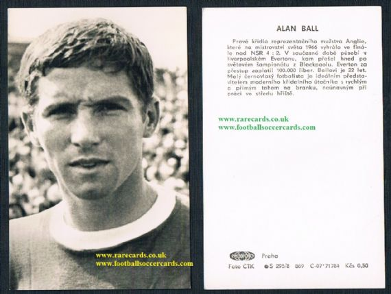 1967 Alan Ball Czech Pressfoto trade card